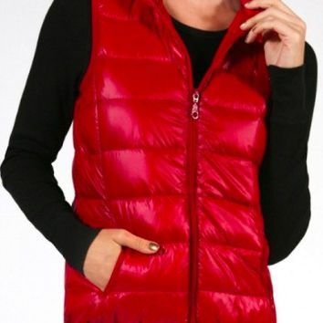 Puffer Vest | Red
