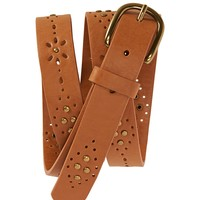 STUDDED PERF BELT
