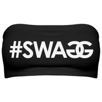 Got My Swagg On: Custom Junior Fit Bella Bandeau Top - Customized Girl