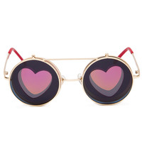 Ginny Love Round Sunglasses - Red