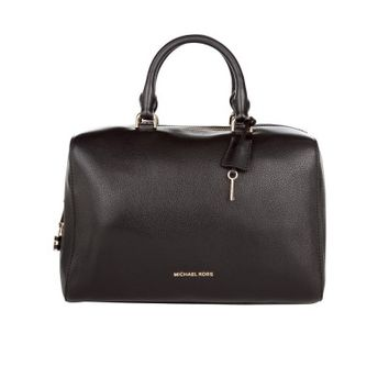 Michael Kors Black Leather Kirby Satchel Bag