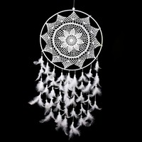 XL Artisan Crafted Boho Feather Dreamcatcher