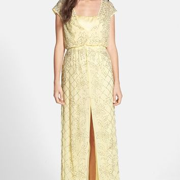 Women's Needle & Thread 'Aura' Beaded Georgette Maxi Dress,