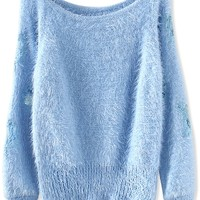 Easy Off-Neck Mohair Pullover - OASAP.com