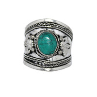 Adjustable Ring Turquoise Ring Silver Ring Boho Ring Gypsy Ring