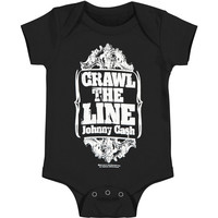 Johnny Cash Boys' Crawl Bodysuit Black Rockabilia