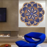 Full Color Wall Decal Mandala Model Map Ornament Star Buddha Yoga Flower Mcol37