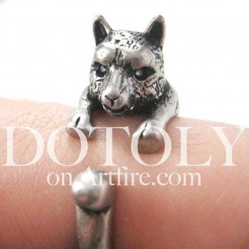 llama Alpaca Shaped Animal Wrap Around Ring in Silver | US Size 4 to 9