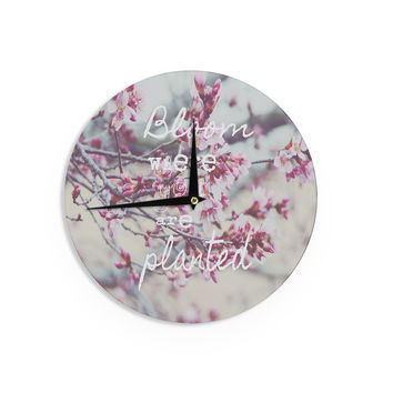 "Suzanne Carter ""Bloom Pink"" Wall Clock"