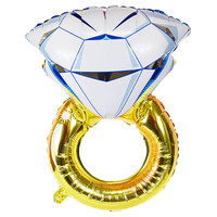 Diamond Engagement Ring Foil Mylar Balloon - Party Decorations & Balloons by Just Artifacts - Item SKU: FMB010001