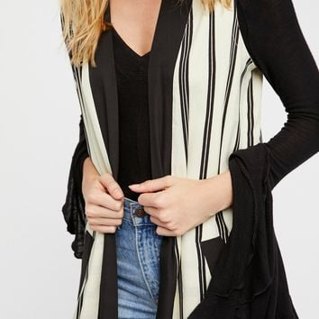 Free People Business Casual Pinstripe Vest