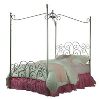 Standard Furniture Princess Canopy Bed In Silver Metal - Full
