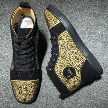 Christian Louboutin CL Rhinestone Style #1930 Sneakers Fashion Shoes Online