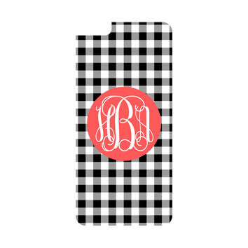 Black Gingham iPhone 6/6s Plus Case (Apple)