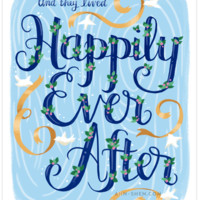 Happily Ever After Art Print 8x10""