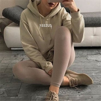 Women's Fashion Yeezy Hot Sale Casual Hoodies [9024079884]
