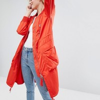 Monki Longline Lightweight Jacket at asos.com