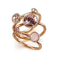 Jewel clustered ring - Rose Gold | Jewellery | Ted Baker UK