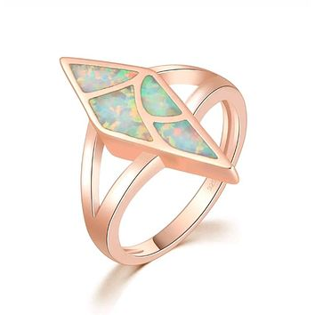 Diamond Opal Ring