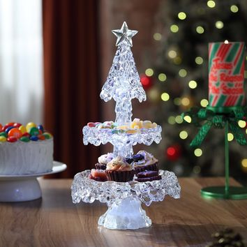 Christmas Two-Tier Fruit Tray