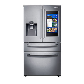 Samsung RF22NPEDBSR/AA ENERGY STAR® Smart Wi-Fi Enabled 22 cu. ft. Counter Depth 4-Door French Door Refrigerator with Family Hub™ - JCPenney
