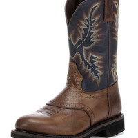 "Justin Men's Copper Kettle Rowdy 11"" Stampede Round Toe Boot"