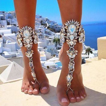Crystal Beach Statement Anklet