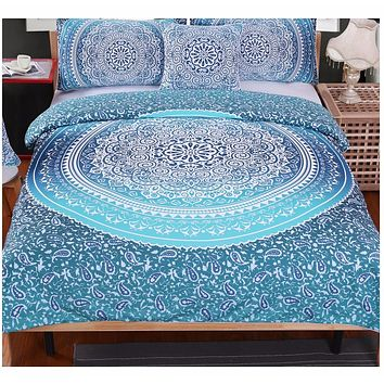 Luxury Boho Bedding Set Crystal Arrays Duvet Cover Set Super Soft Quilt Cover Bohemian Bedclothes 4 Pieces Hot