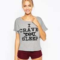 ASOS I Crave Sleep Tee & Short Pyjama Set