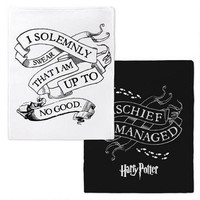 Harry Potter Mischief Managed/Solemnly Swear Fleece Throw Blanket | WBshop.com | Warner Bros.