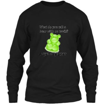Joke T-Shirt Funny Parody Gummy Bear Prank unisex-child Kids LS Ultra Cotton Tshirt