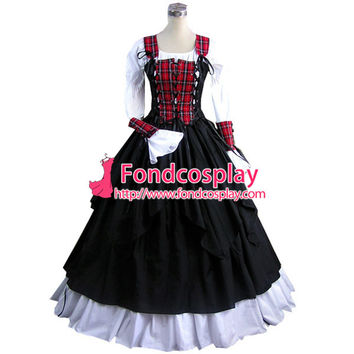 ping Gothic Lolita Punk Medieval Gown Figure Ball Long Evening Dress Jacket Tailor-made Alternative Measures - Brides & Bridesmaids - Wedding, Bridal, Prom, Formal Gown