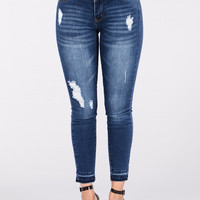 Only We Know Jeans - Medium Wash