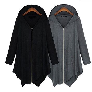 Womens Trendy Cool Simple Zip Hoodie Jacket