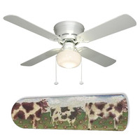 "Farm Kitchen Cows 42"" Ceiling Fan and Lamp"