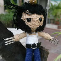 Wolverine The X Men Voodoo String Doll Funny Keyring Keychain Key Ring Key Chain Bag Car Bike Gift Movie Links Funny Ideas Fabric Kids Goth