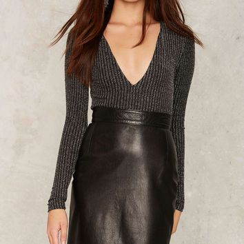 Vintage Dream of Mirrors Leather Skirt