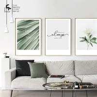 CREATE&RECREATE Nordic Poster Flower Leaf Love Posters And Prints Wall Art Canvas Painting Home Decorative Pictures CR1810115014
