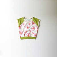 Floral Blooms Organic Cap Sleeve Raglan [Stationery Bakery Collaboration]