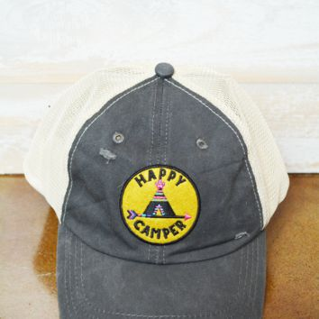 Natural Life Hat - Happy Camper