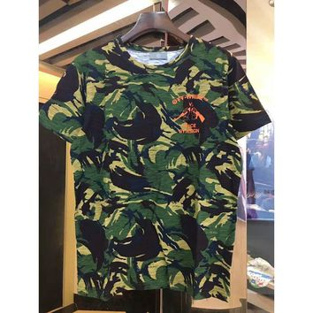 ca auguau OFF White C/o Virgil Abloh New camouflage Short Sleeve