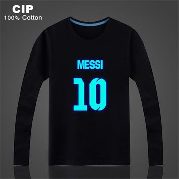 Lionel Messi Shirt Children's Clothing Boy Brand Children Kids Tops Clothes Boys Girls Long Sleeve T-Shirts Baby Shirts Cotton