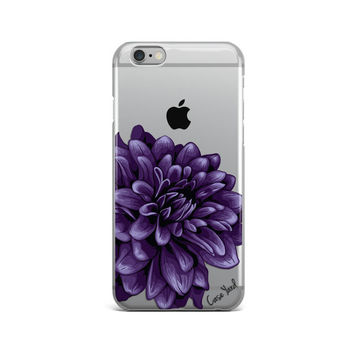 iphone 6s clear dahlia flower case,clear flower iphone 6 case,clear flower iphone 6s plus case,clear flower iphone 5s case,clear iphone case