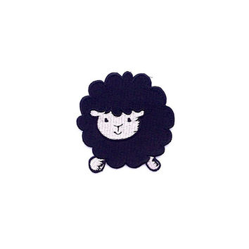 Black Sheep Applique Iron on Patch Size 7 x 7 cm