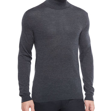 Vilass Turtleneck Sweater, Charcoal, Size: