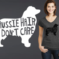 Australian Shepherd Dog Hair T-shirt