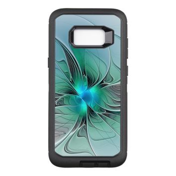 Abstract With Blue, Modern Fractal Art OtterBox Defender Samsung Galaxy S8+ Case