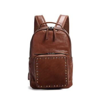 Soul Studded Leather Backpack