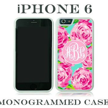 Monogram iPhone 6 Case Personalized Phone Case Lilly Pulitzer Inspired Monogrammed iPhone 6 Case, Iphone 6 Case #2083