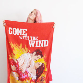 Gone With The Wind beach towel . frankly my dear I dont give a damn